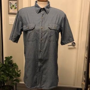 Men's small denim style button up by TNL